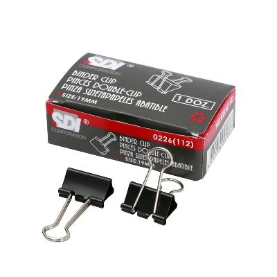 คลิปดำ (112) 3/4 (กล่อง 12 ตัว) SDI 0226